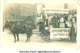 Smith and Cilek home products parade float, Iowa City, Iowa, 1910s