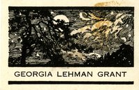 Georgia Lehman Grant Bookplate