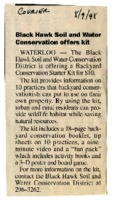 Black Hawk Soil and Water Conservation Offers Kits