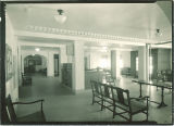 Outpatient waiting room at the hospital, the University of Iowa, Jan. 1929