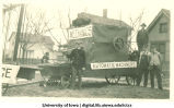 Mechanics' float, Homecoming parade, The University of Iowa, 1917