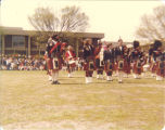 Scottish Highlanders performing at Macalester College, St. Paul, Minn., May 16, 1978