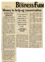 Money to Help Ag Conservation