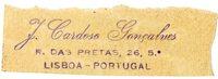 J. Cardoso Gonzalves Bookplate