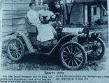 Archie Wymore in His Brush Runabout in Rose Hill, Iowa, Circa 1910
