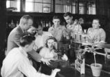 Professor W.E. Loomis is conducting a class in plant physiology, 1948