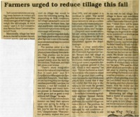 Farmers urged to reduce tillage this fall