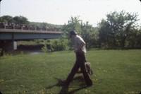 Releasing an otter.