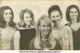 Homecoming queen and court, The University of Iowa, 1960s