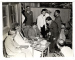 Henry A. Wallace dining during official trip, Panama, Apr.  1943