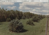 Doris and Milton Retz windbreak.