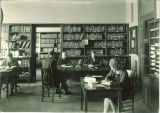Studying in the Math Library, the University of Iowa, 1920s?