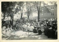 Crowd at celebration