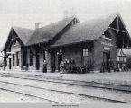 Rock Island Railroad Depot, Oskaloosa, Iowa, circa 1910; Mahaska County