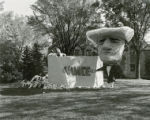 "Sigma Alpha Epsilon's  lawn display, """"InVINCEable,"""" Homecoming, 1954"