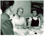 Mary Louise Smith with Pat Bain at First Ladies Luncheon, 1970s