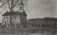 Ceres Church (St. Peter's German Evangelical Lutheran) at Ceres, Iowa -1927-view 1