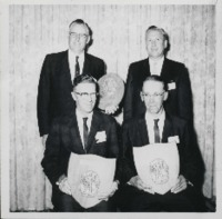 Men Pose with their Conservation Awards.