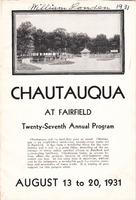 1931 Fairfield Chautauqua program