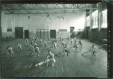 High school boys' physical education class, The University of Iowa, March 1927