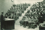 Students in a small Chemistry lecture, The University of Iowa, 1930s