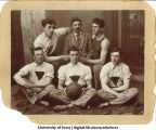 Basketball team with coach Henry Kallenberg, The University of Iowa, 1893-1894