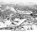 Iowa Stadium (now Kinnick Stadium), barracks, Field House/Armory, The University of Iowa, 1960