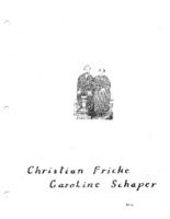 Fricke Family Genealogy - Christian and Caroline Fricke Schaper (Part G)