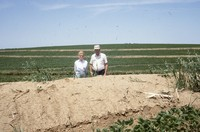 Quad State Award winners Floyd and Mary Lux show their conservation progress.