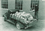 Truck delivery to pharmacy laboratory, The University of Iowa, 1940s