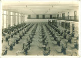 View of clinic from a balcony in Trowbridge Hall, The University of Iowa, 1917