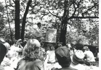 Outdoor classroom with Dave Quinlan, 1987
