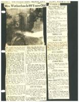 1947 -  Hannah Weatherbee celebrates 99th birthday