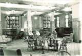 Reading in the Law Commons lounge, the University of Iowa, 1946