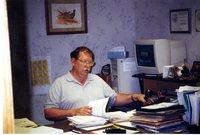 Gentleman at Desk Working