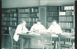 Students studying in Trowbridge Hall dental library, The University of Iowa, 1950s