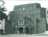 East entrance to Hillcrest Residence Hall, the University of Iowa, 1930s