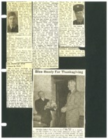Clippings about various Beaman area servicemen and Governor Robert Blue