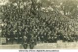 Spectators at Iowa versus Notre Dame football game, The University of Iowa, 1921