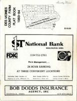 1983-1984 Des Moines County Farm Plat Book