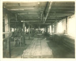 Interior of the Engineering shed, the University of Iowa, 1901?