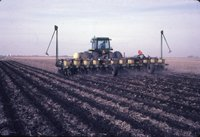 Spraying on Dale Anderson farm, 1983
