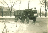 Military engineer with truck, The University of Iowa, 1917