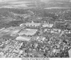 West campus, Iowa City, Iowa, between 1942 and 1945.