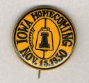 Homecoming badge, November 15, 1930
