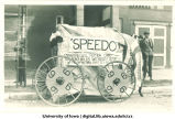 Speedo, the car built by engineering students for Mecca Day parade, The University of Iowa, 1921