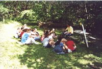 Jim Allen conducting an outdoor classroom