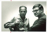 Philological quarterly editor Curt Zimansky, left, and English professor Paul Baender, The University of Iowa, 1960s