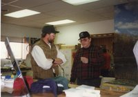 1996 - Chairman Jeff Bergman and Leonard Lane at office open house