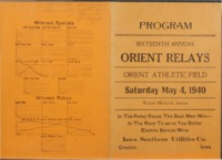 Orient, Iowa Relays - 1940